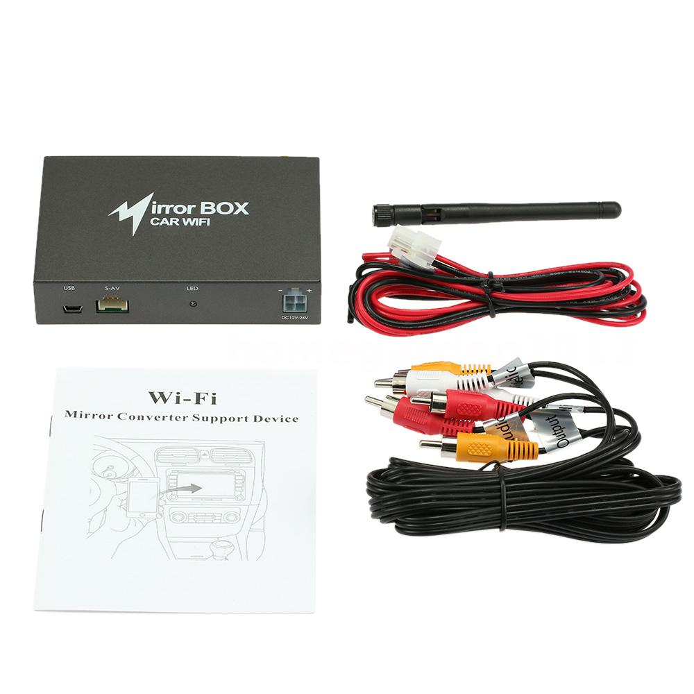 Linux car wifi mirror box for android ios system airplay for 1 box auto