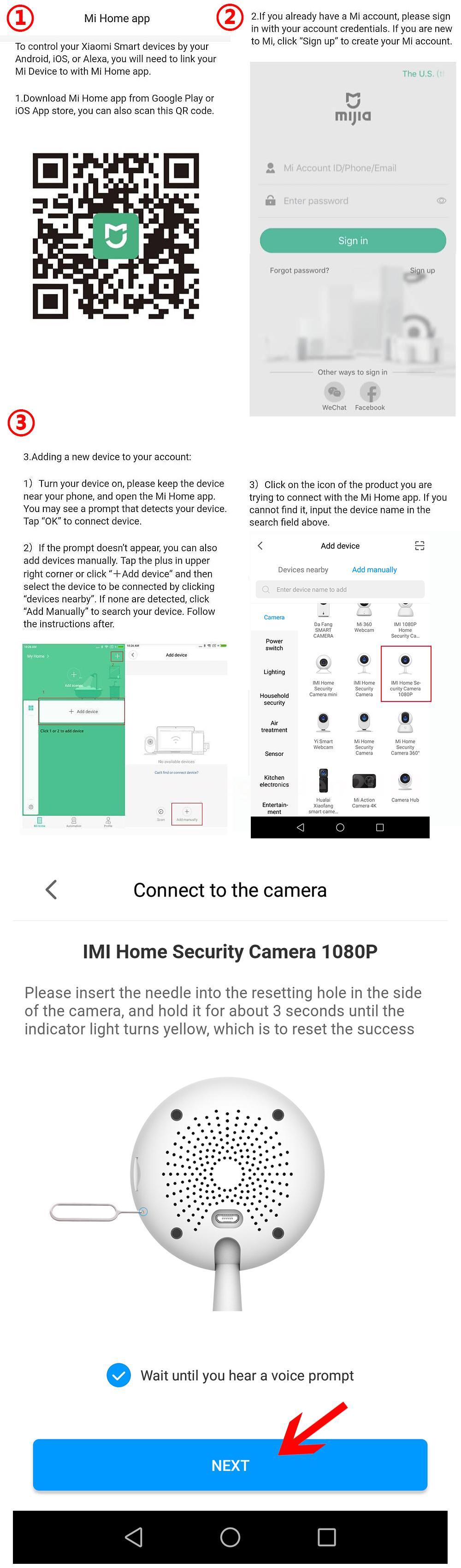 Xiaomi Smart Camera 1080P Wireless Wifi Home Security Night