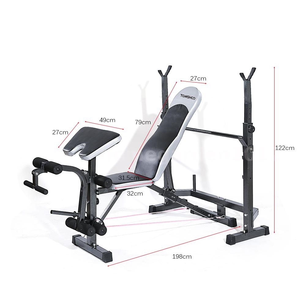 Tomshoo Adjustable Weight Lifting Flat Incline Bench Fitness Home Exercise Ebay